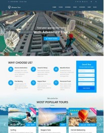 Tema Wordpress Viagens, Hotéis, Turismo Adventure Tours