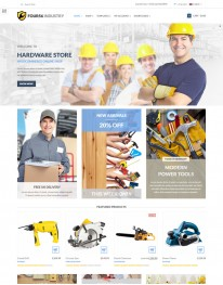 Tema Wordpress Venda de Ferramentas Four56 Industry