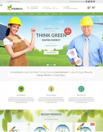 Tema Wordpress Ecologia e Sustentabilidade Foureco 3.x