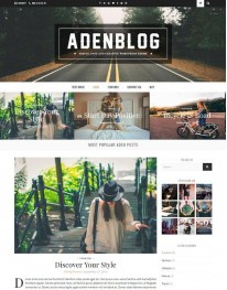 Tema Wordpress Blogs, Moda e Fotos AdenBlogs