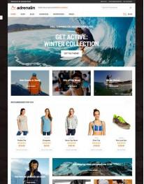 Tema Wordpress Moda, Esporte, Acessórios Adrenalin