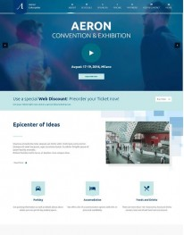 Tema Wordpress Corporativo, Eventos Aeron