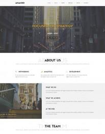 Tema Wordpress One Page, Web Design e Serviços Ananke