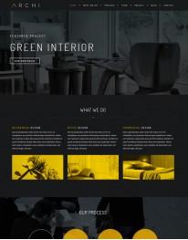 Tema Wordpress One Page, Arquitetura, Imobiliárias Archi