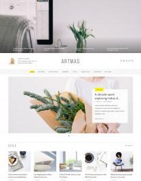 Tema Wordpress Café, Bebidas e Produtos Naturais Artmag