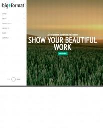 Tema Wordpress Web Design, Blogs e Fotos Big Format