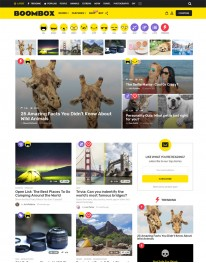 Tema Wordpress Quiz, Testes, Jogos e Notícias Boom Box