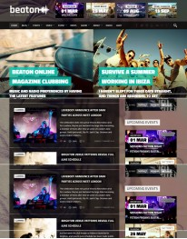 Tema Wordpress Musica, Festas, Fotos e Eventos Beaton