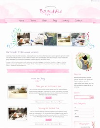 Tema Wordpress Blogs e Artesanato Beautiful Water Color