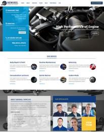 Tema Wordpress Mecânica, Prestação de Serviços Bengkel