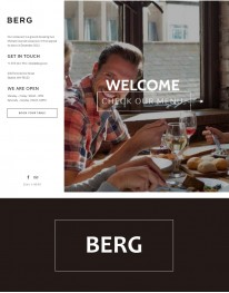 Tema Wordpress Gastronomia, Restaurantes e Receitas Berg
