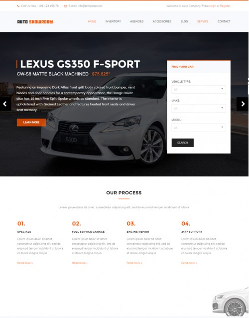 Tema Wordpress Vendas, Carros, Concessionárias Auto ShowRoom