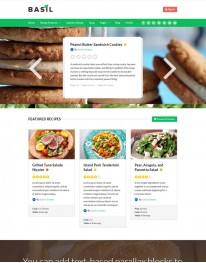 Tema Wordpress Produtos Naturais e Alimentação Basil