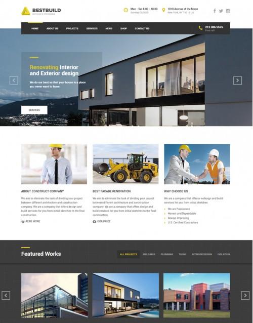 Tema Wordpress Arquitetura e Construtoras Best Build