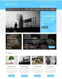 Tema Wordpress Empresa Institucional, Corporação Charity Hub