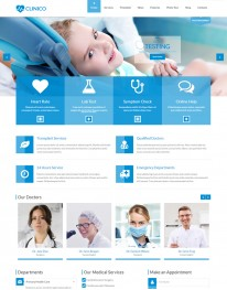 Tema Wordpress Clinicas de Saude, Dentistas Clinico Theme