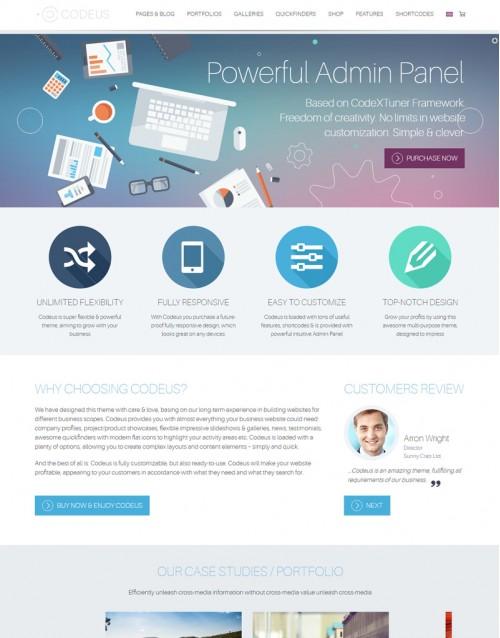 Tema Wordpress Empresas, Negócios, Corporativo Codeus