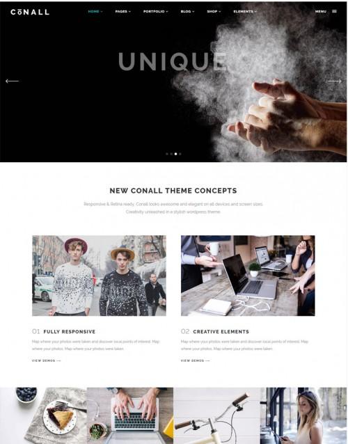 Tema Wordpress Empresa, Fotografias, Fotógrafos Conall