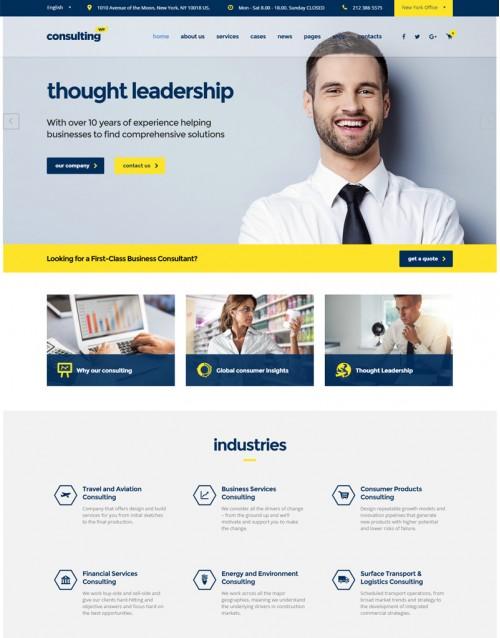 Tema Wordpress Empresas, Financeiras, Seguradoras Consulting