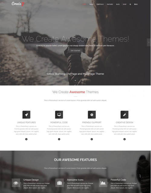 Tema Wordpress Desing, Fotógrafos, Fotografias Crexis