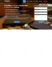 Tema Wordpress Empresas Institucionais, Negócios Cross Way