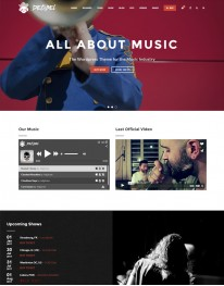 Tema Wordpress Músicos, Bandas, Gravadoras Decibel