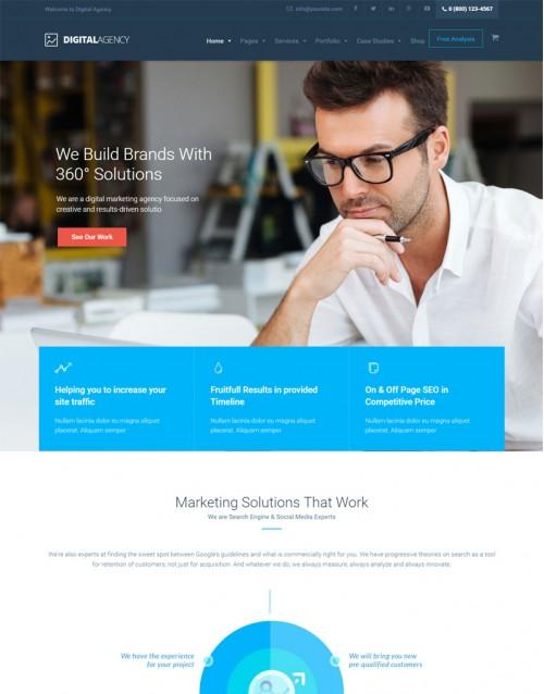 Tema Wordpress Agências, Multimídias Digital Agency