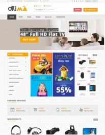 Tema Wordpress Virtue Mart, Eletrônicos, Informatica, Dilima