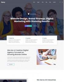 Template HTML5 Site para Web Design, Multi-Page Fancy