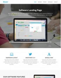 Template HTML5 Site para Aplicativos, One Page Boxer
