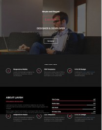 Template HTML5 Site para Publicidade, One Page Lavish